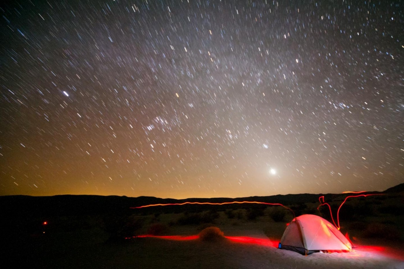 Desert Camping on the Panamint Dunes