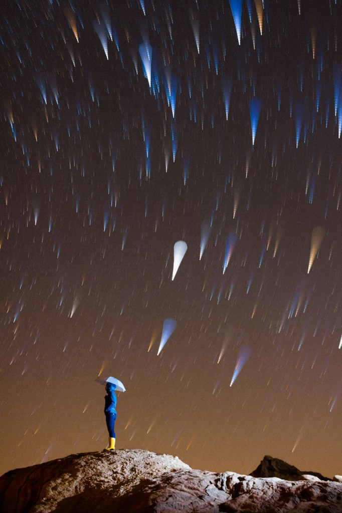 Star Trail Rain Shower