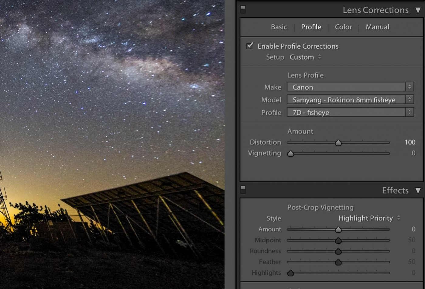 Adobe Lightroom has a built-in lens correction tool that can correct fisheye lenses after downloading the appropriate profile from the Adobe Lens Profile Downloader