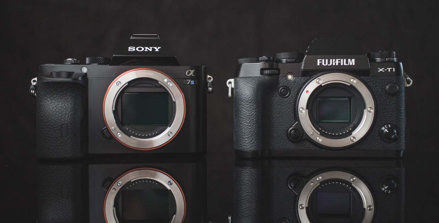 Size Comparison: Sony a7s vs. Fujifilm X-T1