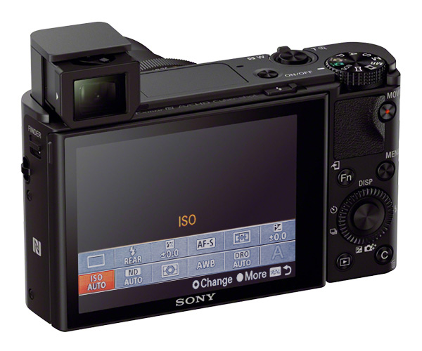 The RX100 series features user customizable Fn menu that gives quick access to most used functions.