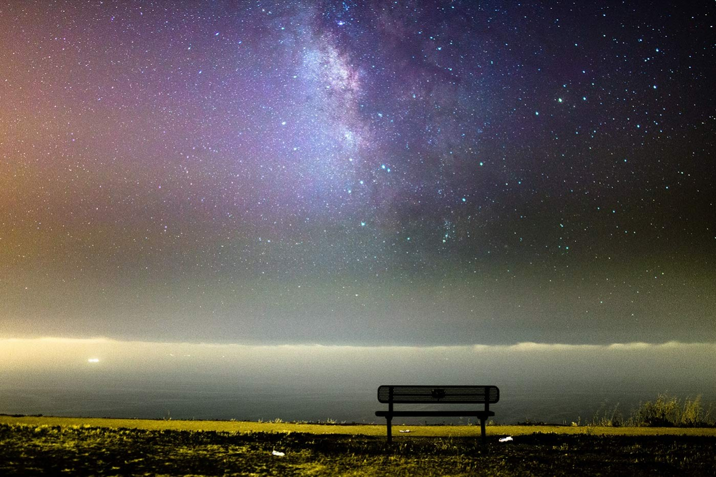 The Milky Way galactic center from Palos Verdes, California