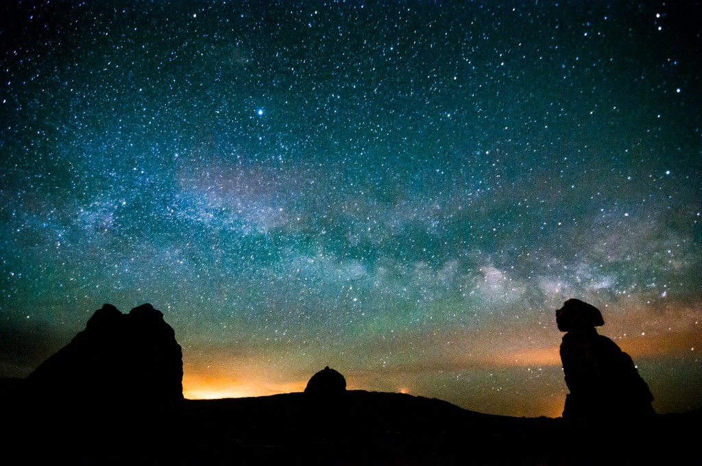 Milky Way and the Trona Pinnacles by Rowan Forster, workshop student.