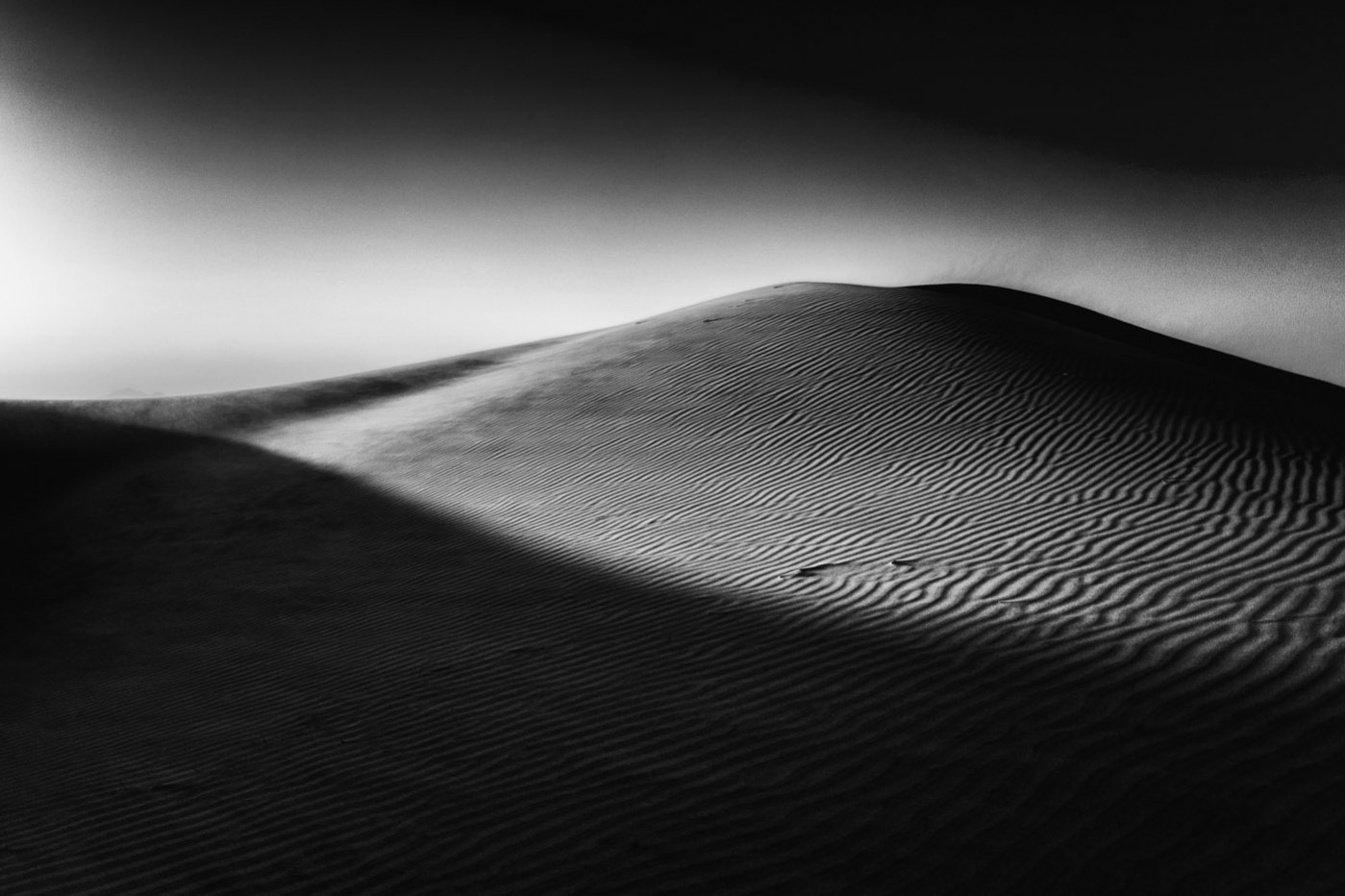 X-E1 Black and White. Kelso Dunes