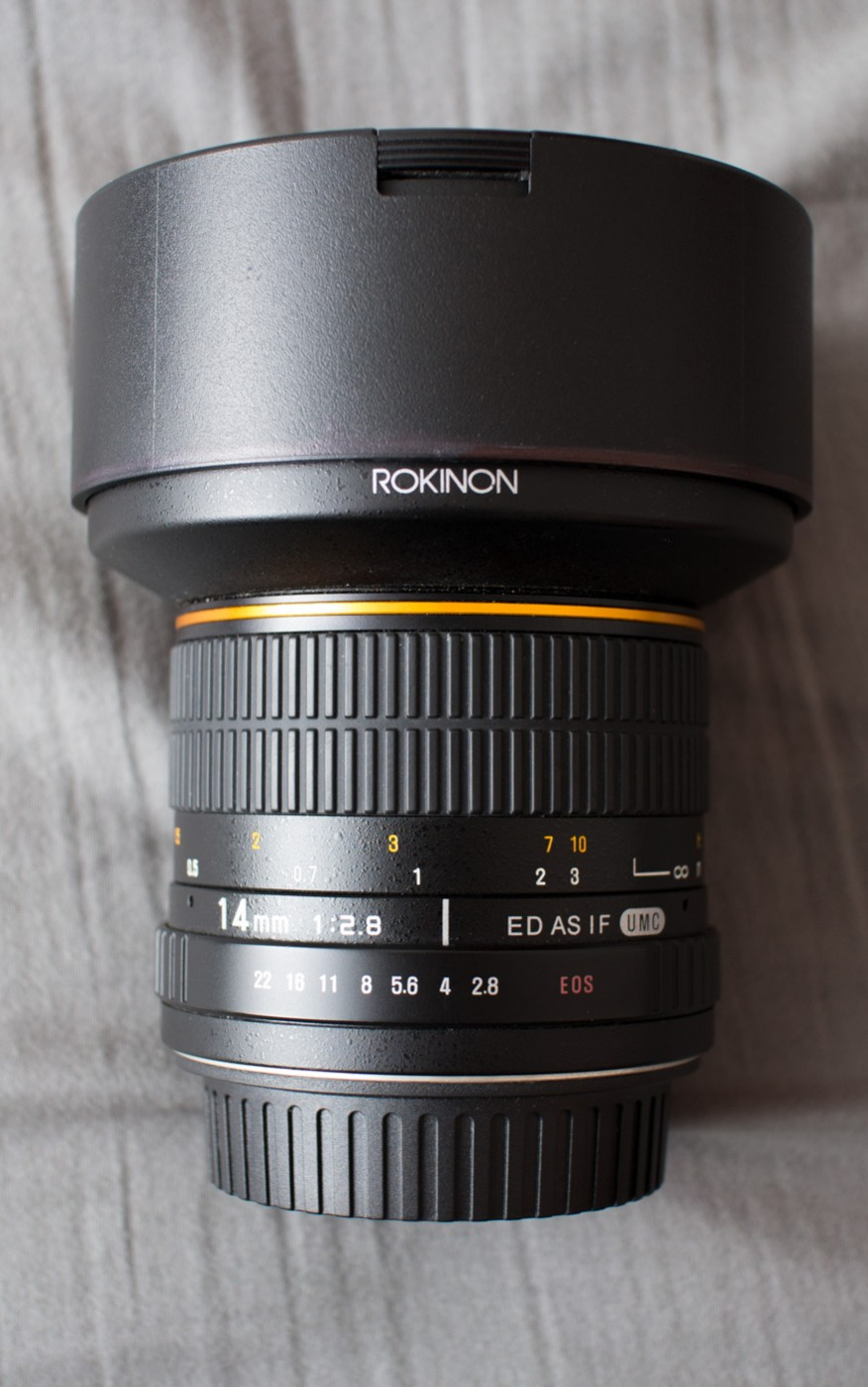 Rokinon Samyang 14mm f/2.8 IF ED UMC Lens Cap On