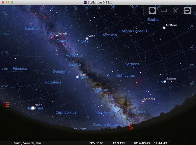 Upgraded Stellarium