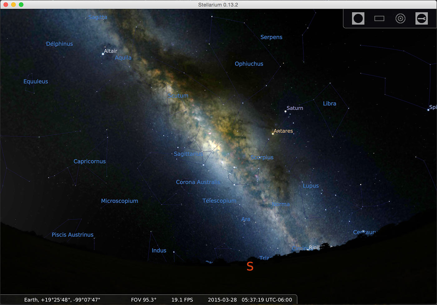 application stellarium