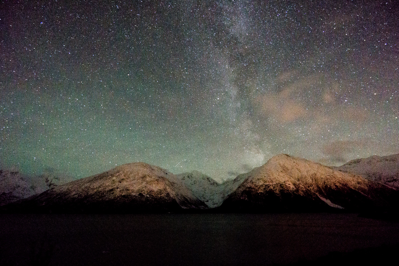 Sony a6000, Milky Way from Portage Alaska, 15s, f/4, ISO 6400