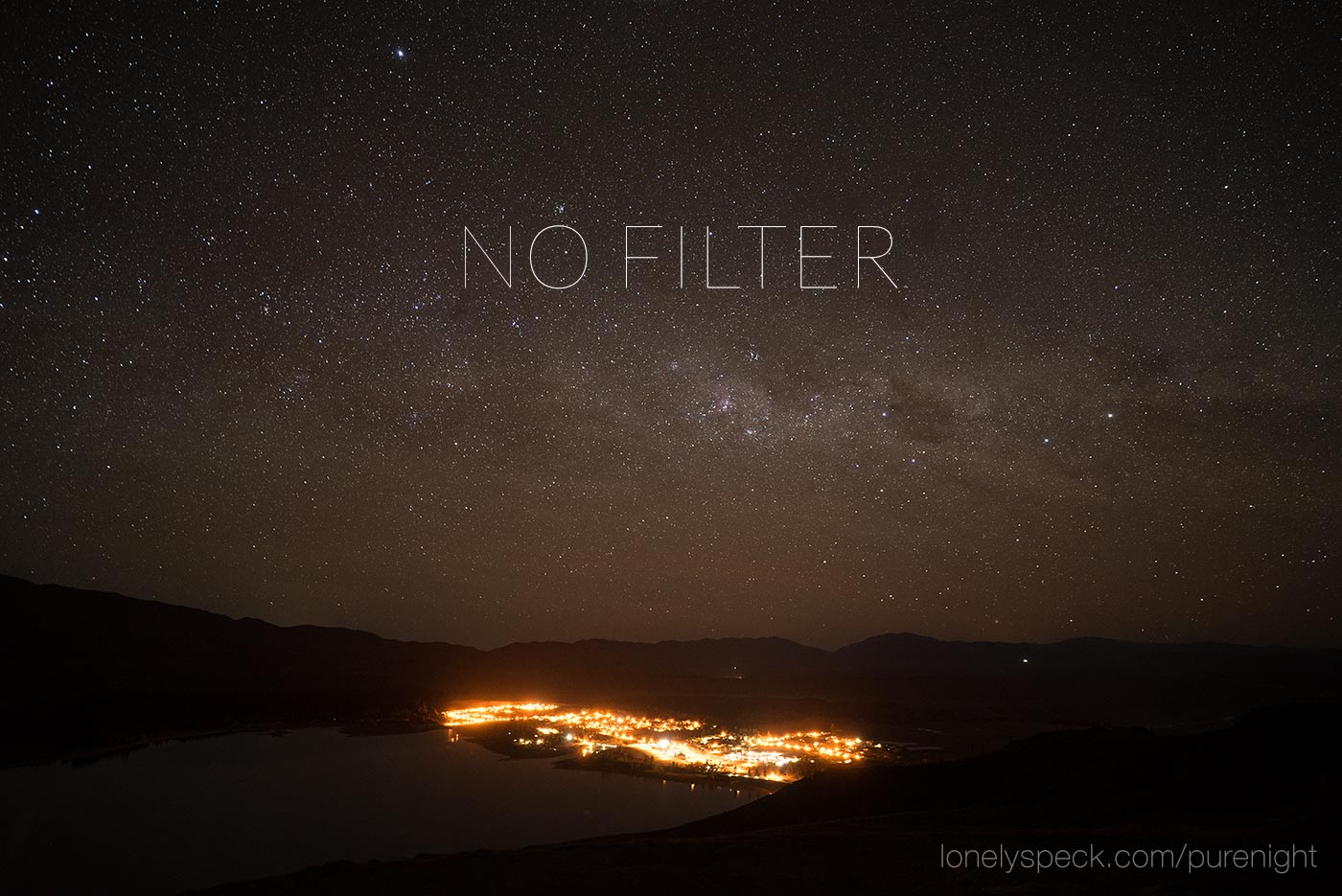 Lonely Speck PureNight Light Pollution Reduction Filter Example Without Filter