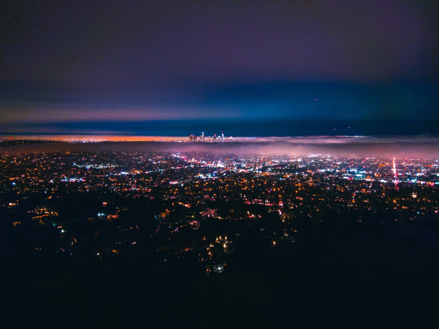 Los Angeles from Griffith Observatory. HTC U11. 1s, f/1.7, ISO 100