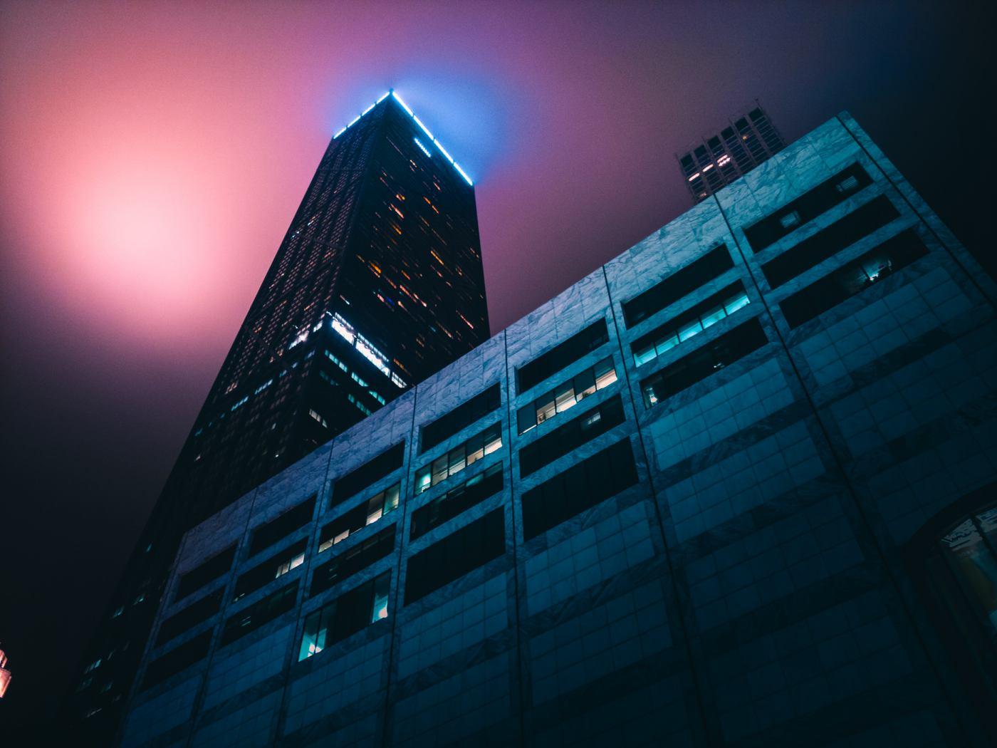Hancock Tower, Chicago. LG V30. 15s, f/1.6, ISO 50