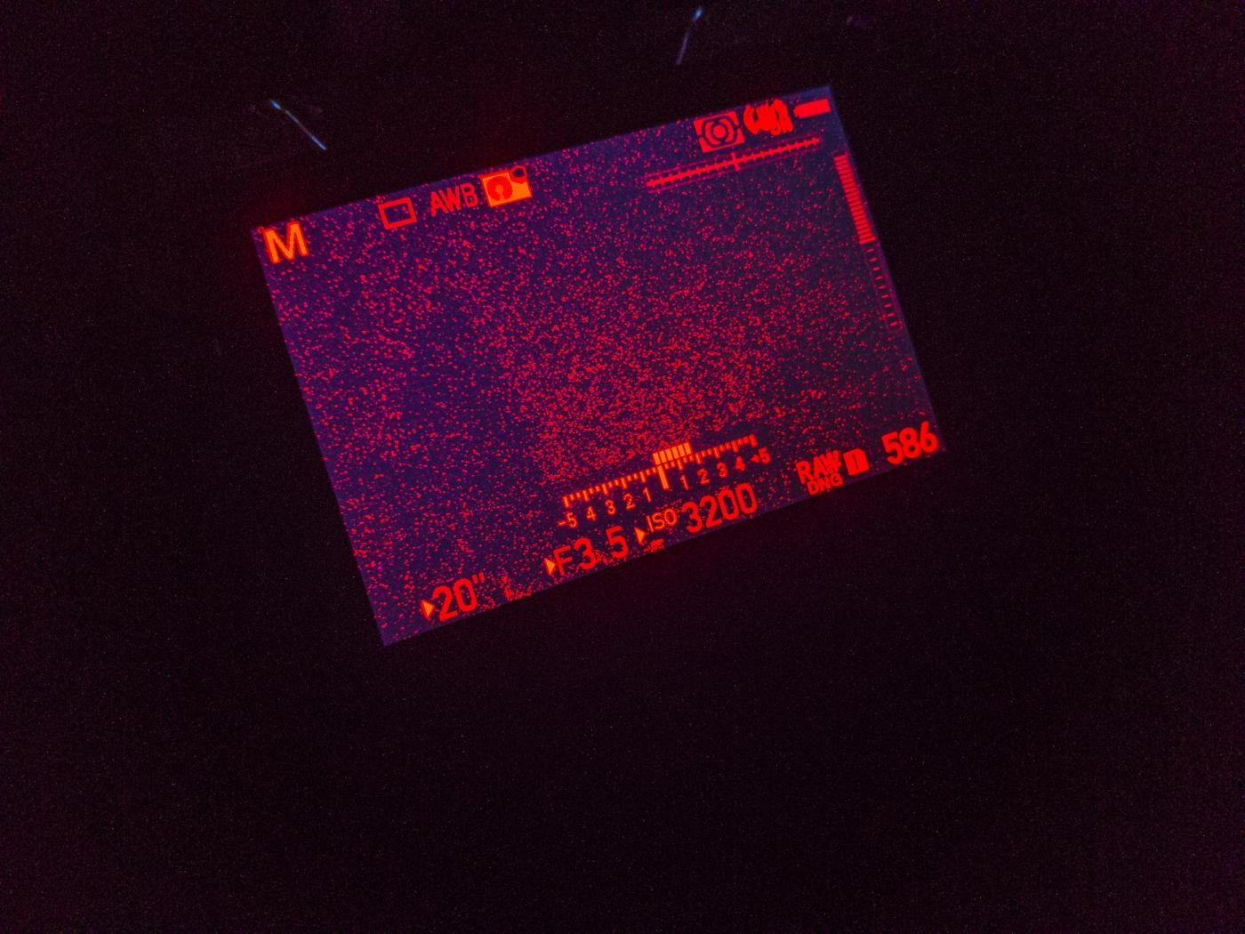 Pentax K-1 Mark II Red Mode Night Vision LCD