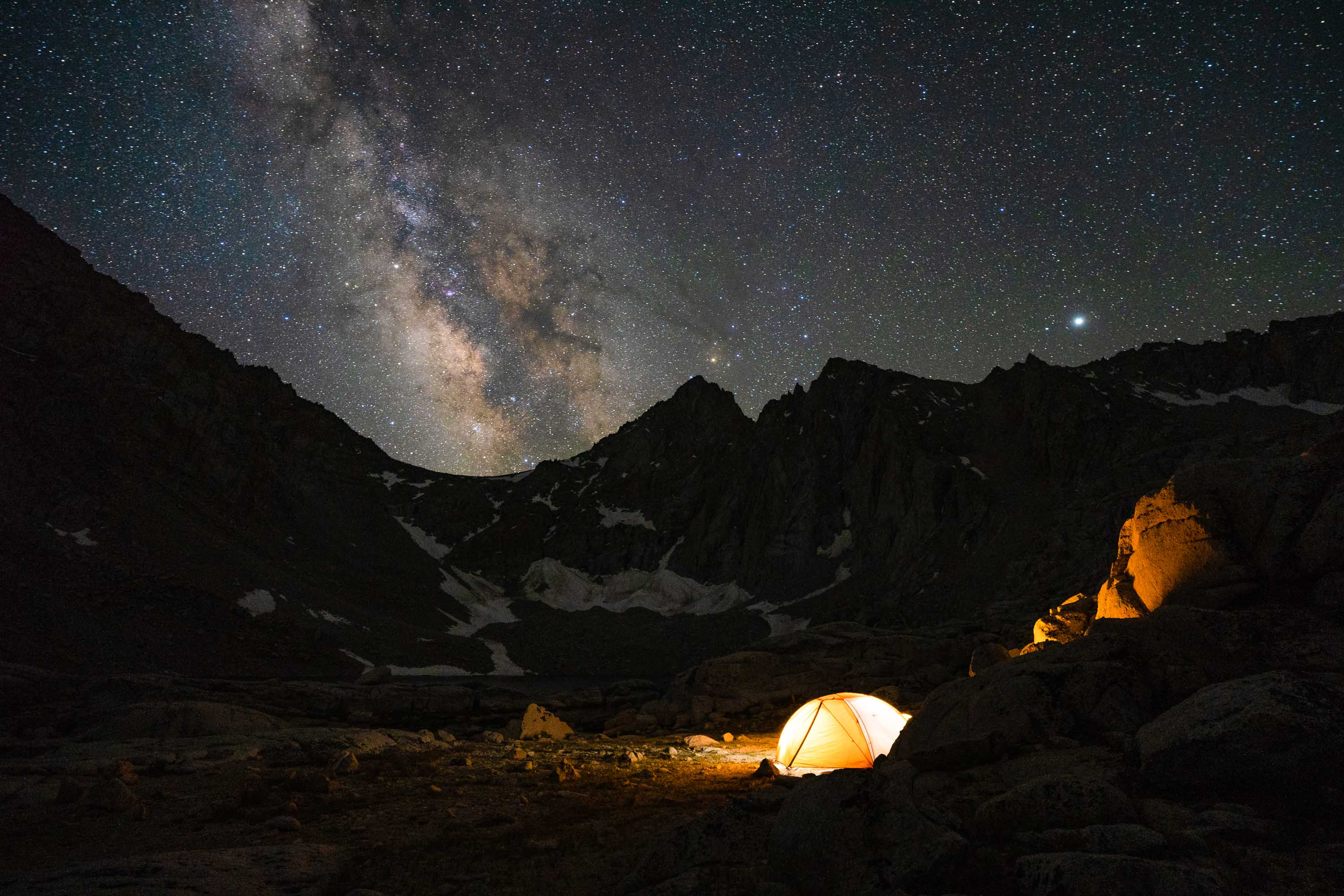 Camping at Consultation Lake, Mt. Whitney Trail