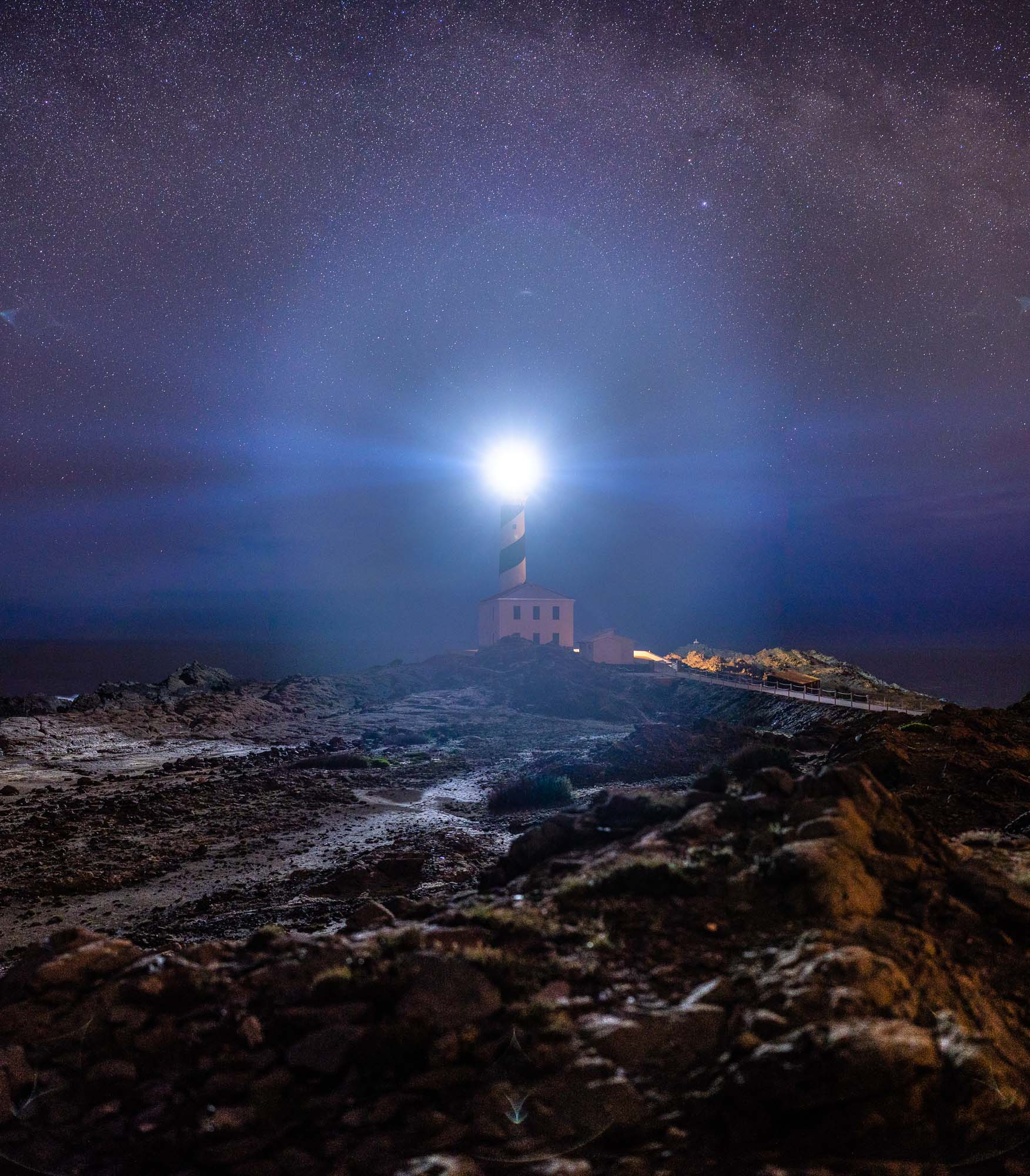 Favàritx Lighthouse, Menorca, Spain.