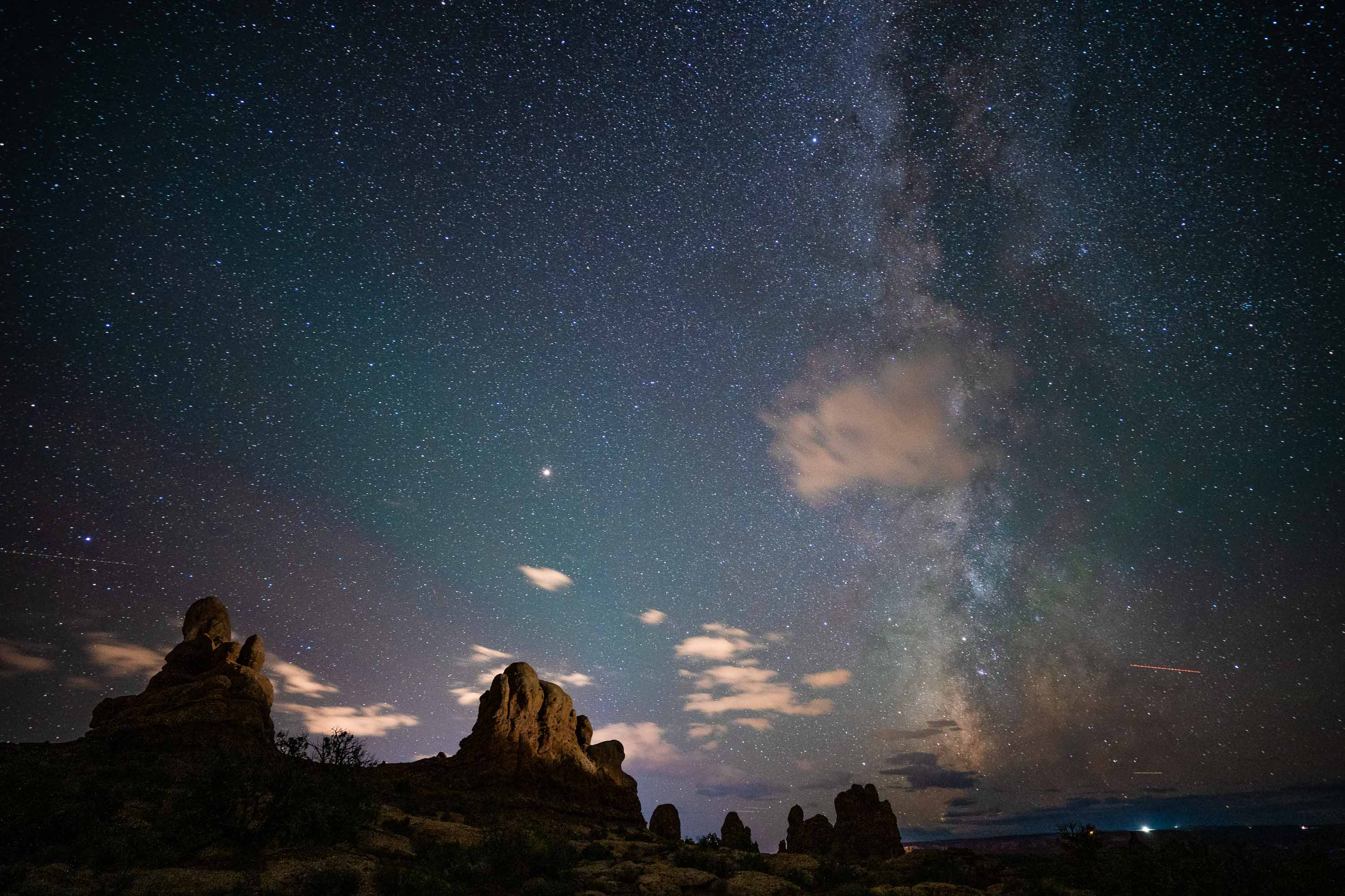 Arches National Park Milky Way - Sony a7III